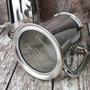 Personalised Tankard With Engraved Glass Base